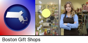Boston, Massachusetts - a gift shop proprietor