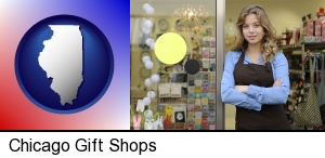 Chicago, Illinois - a gift shop proprietor