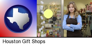 Houston, Texas - a gift shop proprietor
