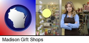 a gift shop proprietor in Madison, WI