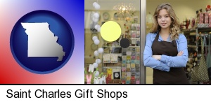 a gift shop proprietor in Saint Charles, MO